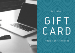 Gift card design by Tap Into IT