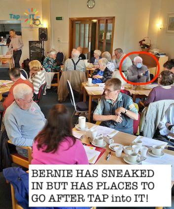 Bernie Sanders visiting Tap into IT